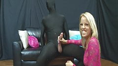 BWC suffers during post orgasm abuse handjob session