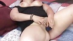 Big girl with dildo