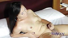 Small tits and Small Dick Pretty Ladyboy