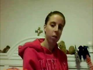 Amateur webcam-horny catholic bitch masturbates (NO SOUND)
