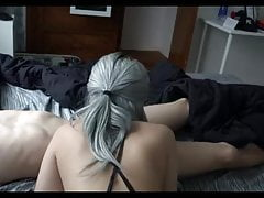 18 Year old Step Sister Wakes me up with a Sloppy Blowjob