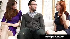 Nerdy Girls Penny Pax & Jay Taylor Get Banged By Alex Legend