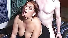 Thick redhead amateur impaled by a big cock