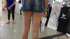 candid cheeky shorts teen ass