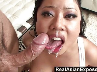 RealAsianExposedBig Boobed Asian Babe Plowed and Facialize