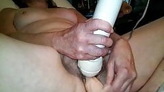 Redhead wife with huge dildo