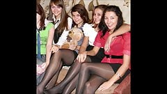 Candid Teens in Nylon Pantyhos
