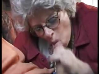 Granny sucks and fucks her grandsons dick