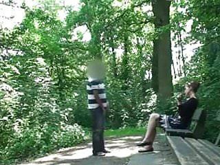 Woman Gives Blowjob To Stranger