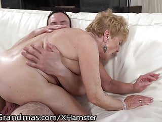 LustyGrandmas Hairy Curvy Mature Gets Young Meat Injection