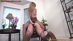 Blonde Mistress Femdom Pantyhose Foot Fetish