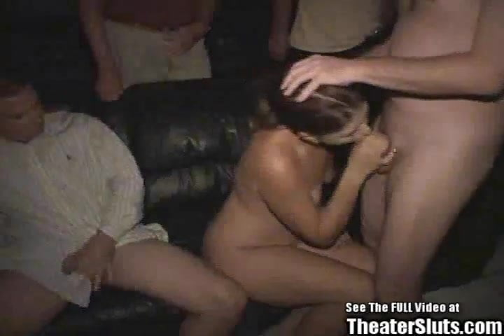 Single Mom Porn Theater Gang Bang!