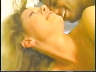 90's Interracial blonde taking a BBC