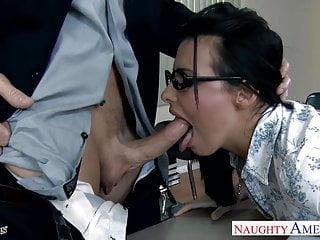 Geeky schoolgirl Danica Dillon fucking her older teacher