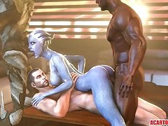 Big tits and ass Liara T'soni getting fucked hard