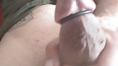 My cumming dick with cock ring