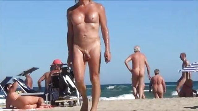 nud shemale in beach
