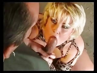 GERMAN BLONDE BBW WITH BIG BOOBS FUCKED ON A PICK-UP