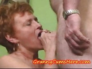 Preview 3 of Granny eats CUM and LICKS and SUCKS ASS
