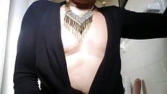 sissy shaved cum