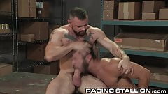 RagingStallion Hairy Muscle Hunk Boys Get Physical & Anal