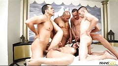 Real exclusive First gangbang with Bruna Butterfly