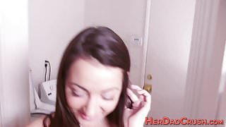Stepdaughter spunk soaked