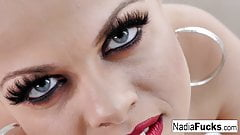 Nadia White makes sure she stares into your soul while