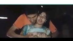 Desi girlfriend boobs kissing