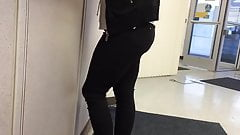 Hot Latina Ass Black Jeans