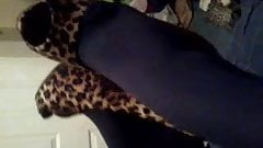 20yr old scottish babe in tights pantyhose dangling heels
