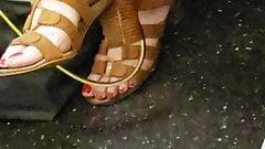 Candid mature asain feet