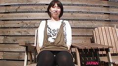 Busty japanese MILF Akiko Tatehara rides cock