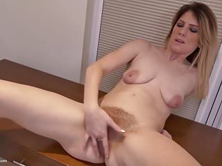 Real mature mother with very hairy pussy ready for sex