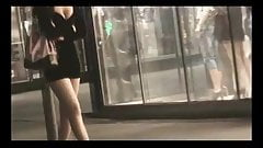 walk behind short skirt girl :1 (China)