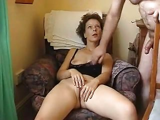 Mature wife plays with her pussy and has awesome orgasm