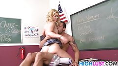 Elizabeth Bentley plays with her teachers dick