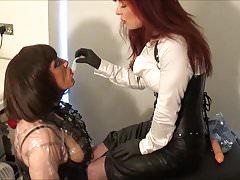 Madame C feeds cum to Angelica