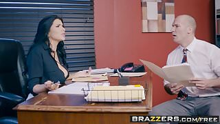 Brazzers - Big Tits at Work -  Anal Audit scene starring Rom