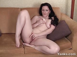 Pierced Caroline Masturbating