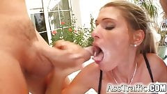 Ass Traffic Amateur sweetie's first ass bang and monster