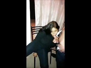 Preview 1 of fully clothed latin girl sucks and swallows 2 loads