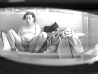 Mom home alone masturbating in living room. Hidden cam