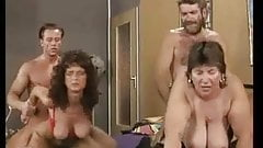 Thick & thin moms fucks with 2 men