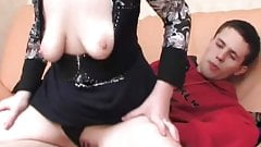 HOT! Russian Mature vs. Young Cock Video 03