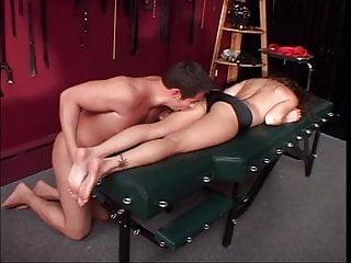Foot fetish dude enjoying himself with a hottie