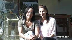 Mia and Sara Outdoor Lesbian Fun - ersties