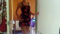 Striptease -- Summer Dress to Satin Underwear