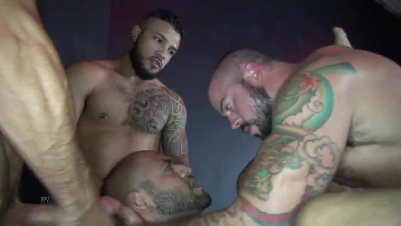 Latino gay studs fucking bareback their juicy brown ass