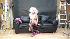 Japanese Pink Hair And Ebony Lesbians